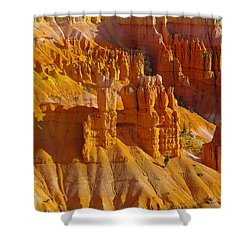 Pinnicles At Sunset Point Bryce Canyon National Park Shower Curtain by Jeff Swan