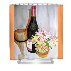 Shower Curtain featuring the painting Pinot Noir by Sandy McIntire
