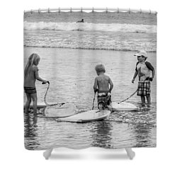 Pint Size Boogie Boarders Shower Curtain