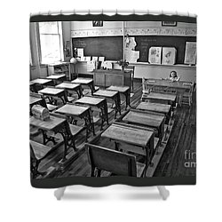 Pioneer Classroom Black And White Shower Curtain