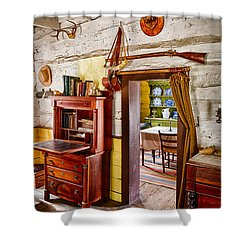 Pioneer Dining Room Shower Curtain by Inge Johnsson