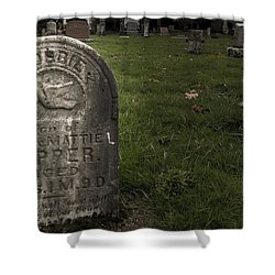 Pioneer Grave Shower Curtain by Jean Noren