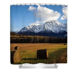 Pioneer Hay Fields Shower Curtain