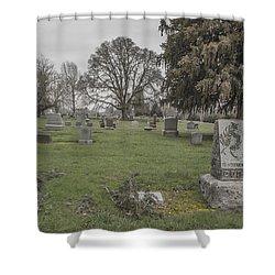 Pioneer Resting Place Shower Curtain by Jean Noren