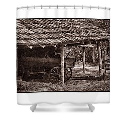Pioneer Shed Calotype Shower Curtain