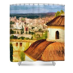 Pious Witness To The Passage Of Time Shower Curtain