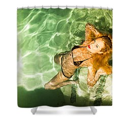 Shower Curtain featuring the photograph Wet Piper Precious No73-5824 by Amyn Nasser