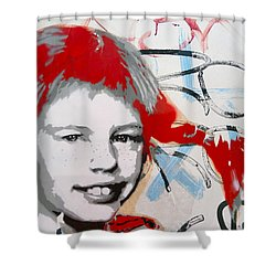 Pippi Longstocking  Shower Curtain by Juergen Weiss