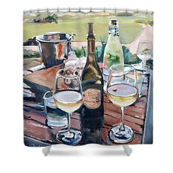 Pippin Hill Picnic Shower Curtain