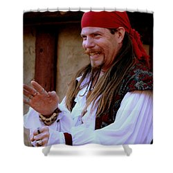 Pirate Shantyman Shower Curtain by Rodney Lee Williams