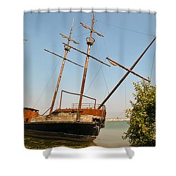 Shower Curtain featuring the photograph Pirate Ship Or Sailing Ship by Sue Smith