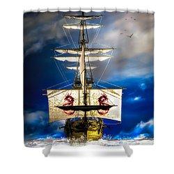 Pirates Shower Curtain by Bob Orsillo