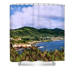 Pirates Cove Shower Curtain by Kurt Van Wagner