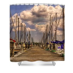 Pirate's Cove Shower Curtain by Lois Bryan