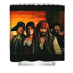 Pirates Of The Caribbean  Shower Curtain by Paul Meijering