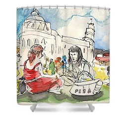 Pisa In Italy 02 Shower Curtain by Miki De Goodaboom