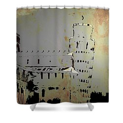 Shower Curtain featuring the digital art Pisa Italy 1 by Brian Reaves
