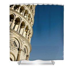 Pisa Tower Shower Curtain by Mats Silvan