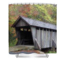 Pisgah Covered Bridge Shower Curtain by Karol Livote
