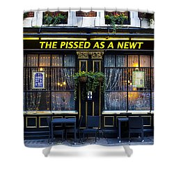 Pissed As A Newt Pub  Shower Curtain