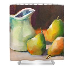 Pitcher And Pears Shower Curtain