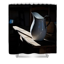 Pitcher On Table Shower Curtain