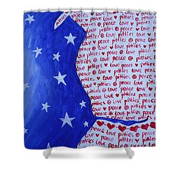 Pittie Love Shower Curtain