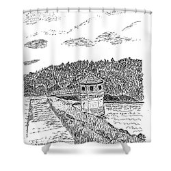 Pittsburg Dam Shower Curtain