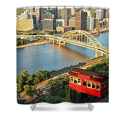 Pittsburgh Duquesne Incline Shower Curtain