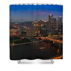Pittsburgh Pa Shower Curtain by Steve Gadomski