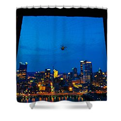 Pittsburgh Skyline At Night Shower Curtain