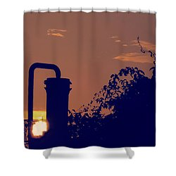 Pittsburgh Sunset  Shower Curtain
