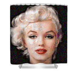Pixelated Marilyn Shower Curtain