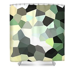 Pixel Money Shower Curtain