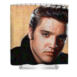 Pixelated Elvis Shower Curtain