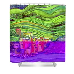 Pizza In Vernazza Shower Curtain