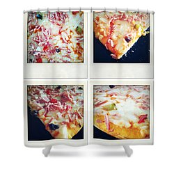 Pizza Shower Curtain by Les Cunliffe