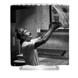 Pizza Toss Shower Curtain