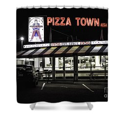 Pizza Town Shower Curtain