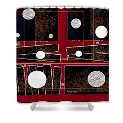 Shower Curtain featuring the mixed media Pizzazze by Ann Calvo