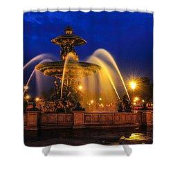 Place De La Concorde Shower Curtain by Midori Chan