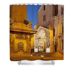 Place De La Republique Shower Curtain by Brian Jannsen
