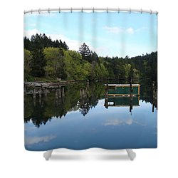Place Of The Blue Grouse Shower Curtain by Cheryl Hoyle