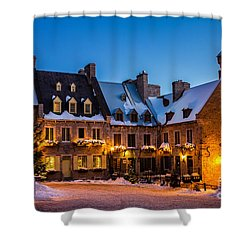 Place Royale Quebec City Canada Shower Curtain by Dawna  Moore Photography