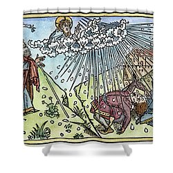 Shower Curtain featuring the painting Plague Of Hail by Granger