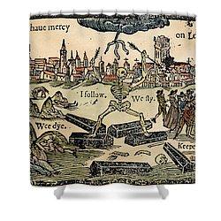 Plague Of London, 1665 Shower Curtain by Granger