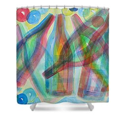 Plaid Wine Shower Curtain by Diane Pape