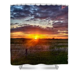 Plains Sunset Shower Curtain