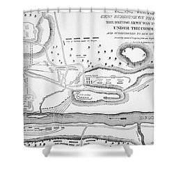 Plan Of The Battle Of Saratoga October 1777 Shower Curtain by American School