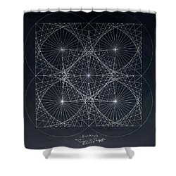 Plancks Blackhole Shower Curtain